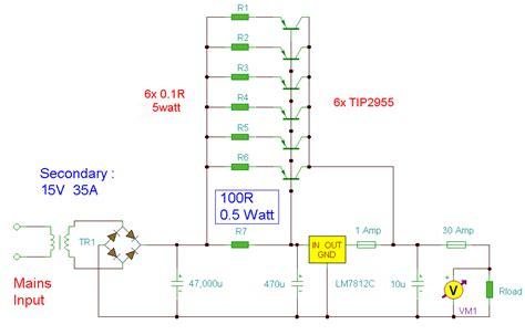 Circuit Diagram 12 Volt Power Supply