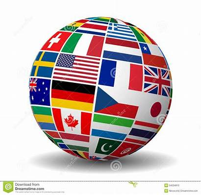International Globe Flags Business Vector Travel Services