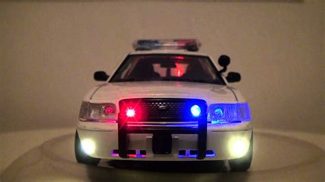 crown vic led light bar scale model 1 24 ford crown victoria police car with led