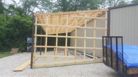 how to build pole shed pole barn lean to