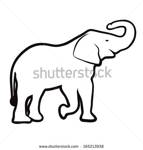 elephant clipart outline trunk up indian elephant drawing outline clipart panda free