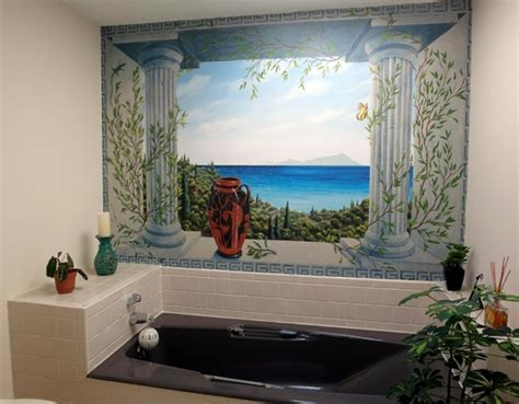 bathroom wall mural ideas bathroom wallpaper murals acehighwine com