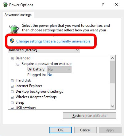 solved advanced power settings greyed  require