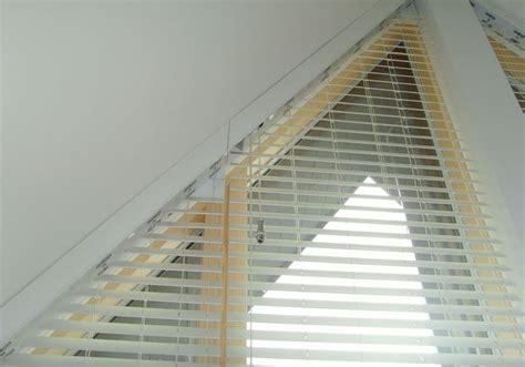 avanti shaped blind  shutter installations triangle