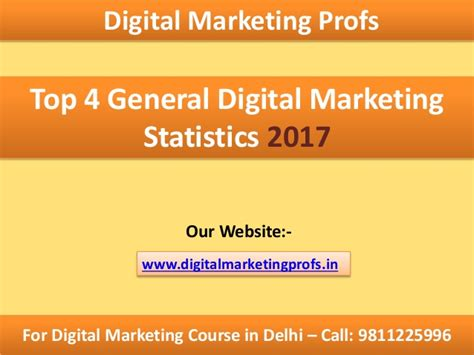 Digital Marketing Course In Delhi by Top 4 Digital Marketing Statistics Most Effective In 2017