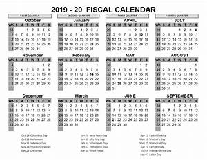 Fiscal Week Calendar 2020 2019 Us Fiscal Year Template Free Printable Templates