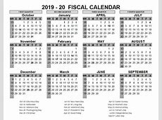2019 US Fiscal Year Template Free Printable Templates