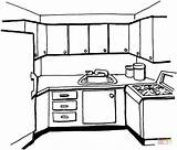 Coloring Kitchen Pages Printable Paper Holidays sketch template