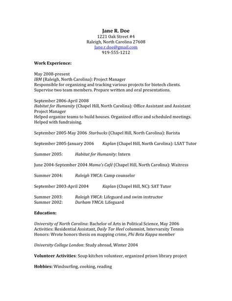 resume educational background exles