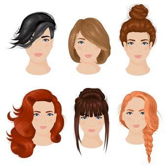 hair vectors   psd files