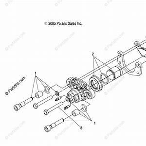 Polaris Atv 2007 Oem Parts Diagram For Brake Calipers