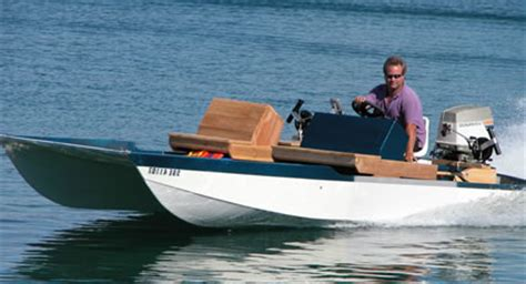 Small Fishing Boat Hull Design by Boat Plans Tunnel Hull Buildsme
