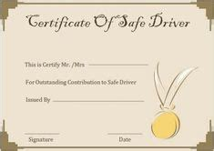 safe driving certificate template images