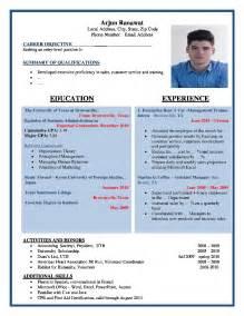 resume format for fresher teachers job fair sle resume in india fresher sle of job resume format operation manager template thumb