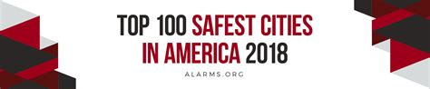 livewatch security top 100 safest cities in america 2018 national council