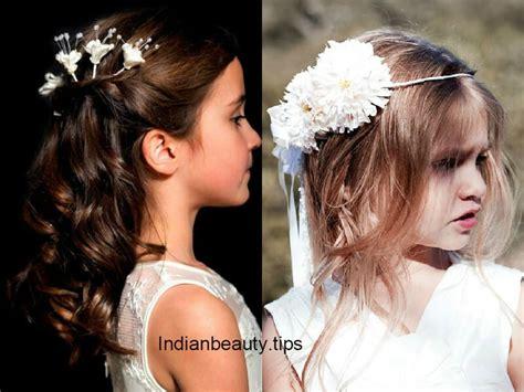 cute flower hairstyles  kids indian beauty tips
