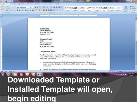 creating cover letters  microsoft word