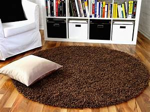 Teppich Rund Braun : hochflor langflor shaggy teppich aloha braun rund teppiche ~ Lateststills.com Haus und Dekorationen