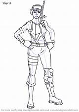 Ops Snorkel Fortnite Draw Step Drawing Tutorials Drawingtutorials101 sketch template