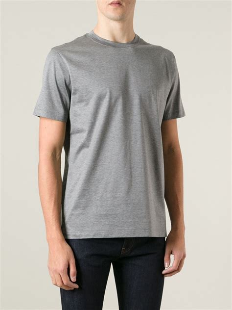 valentino t shirt valentino rockstud t shirt in gray for grey lyst