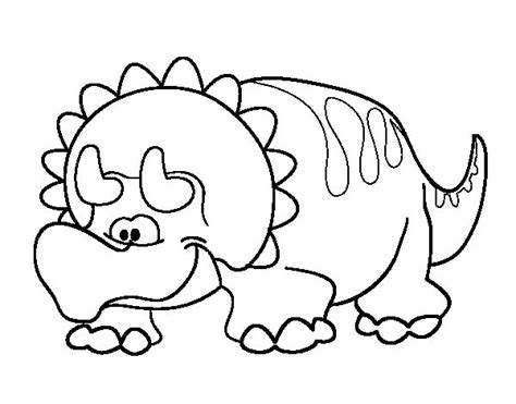 Triceratops Kleurplaat by Baby Triceratops Coloring Page Coloringcrew