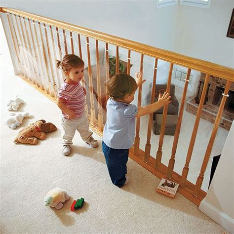 Banister Protection For Babies by Clear Railing Barrier For Loft Railings Modern