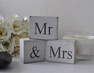 39mr and mrs39 distressed block letters by hush baby for Mr mrs block letters