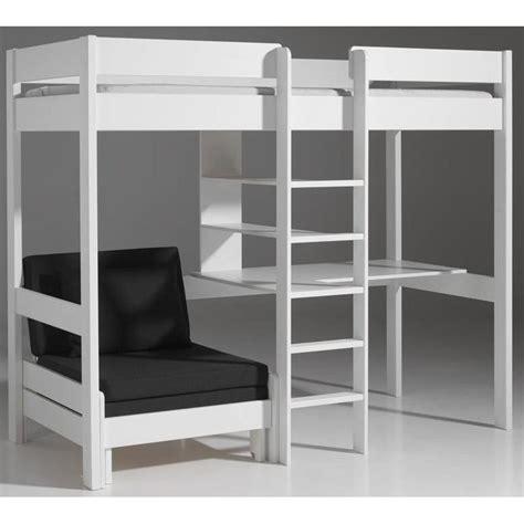 chambre avec lit mezzanine lits chambre literie lit mezzanine avec fauteuil pino