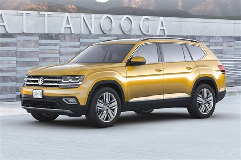 atlas volkswagen seven seat vw atlas suv unveiled in the us by car magazine