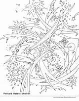 Meteor Coloring Shower Smirnova Ekaterina Perseid 33kb 1522 2550 3300px Getdrawings August Drawings sketch template