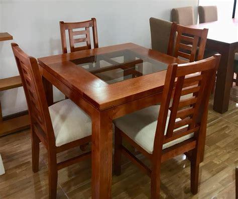 comedor  sillas cuadrado  vidrio muebles chile
