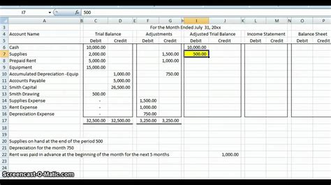 accounting worksheet spreadsheet templates for business