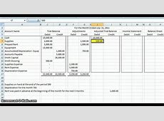 Accounting Worksheet Accounting Spreadsheet Spreadsheet