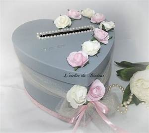 Urne Mariage Champêtre : urne de mariage grise et rose shabby chic mariage ~ Melissatoandfro.com Idées de Décoration
