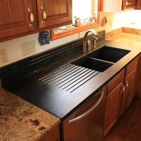 Bathroom Sink Countertop Combination by Soapstone Sinks In This Kitchen A Soapstone Sink