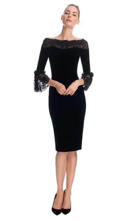 velvet cocktail dress   quarter frill sleeves