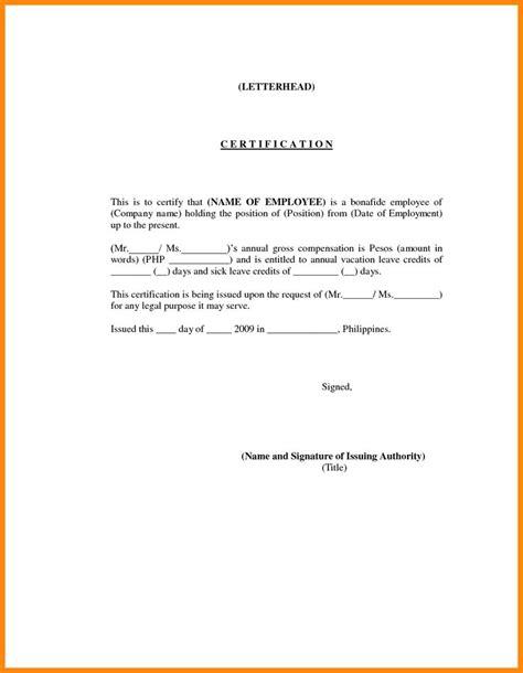 employment certification sample nurse resumed yon