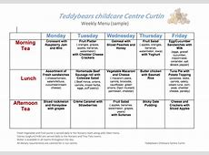 Meals Teddbears Childcare Centre