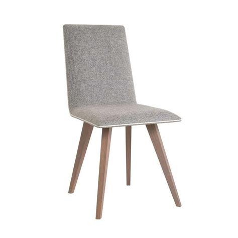 chaise en tissu chaise moderne en bois et tissu enoa 4 pieds tables