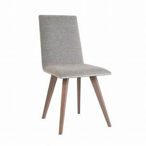 Chaise Moderne En Bois Et Tissu Enoa