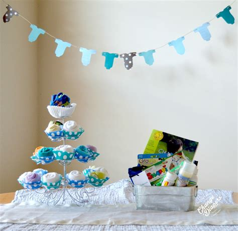 Chagne Decoration Ideas - fluffin awesome cloth baby shower decorations