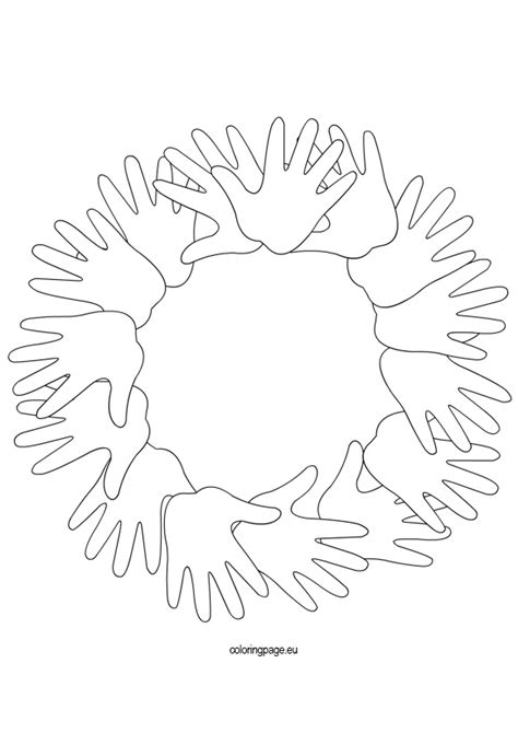 garland hands coloring page coloring page
