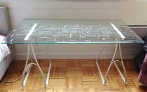 Bureau Ikea Blanc Verre by Longueur 150cm Largeur 80 Cm Hauteur 70 Cm 201 Cartement