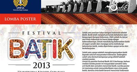 lomba poster festival batik  unesa