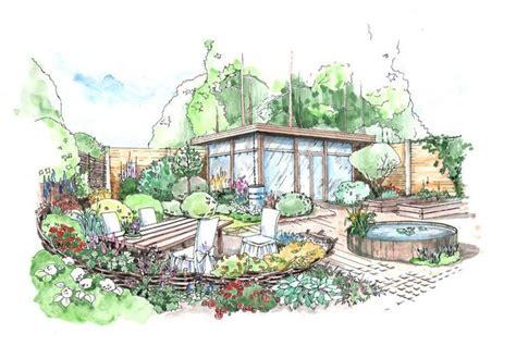 garden design drawings landscape design perspective rendering helen thomas поиск в google планы лд pinterest