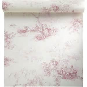 Toile De Jouy Papier Peint papier peint vinyle sur intiss 233 toile de jouy rouge larg