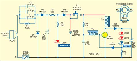 Circuit Diagram Led Torch by Led Based Rechargeable Torch Detailed Circuit Available