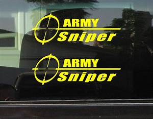 ARMY SNIPER VINYL DECAL / STICKER PAIR | eBay