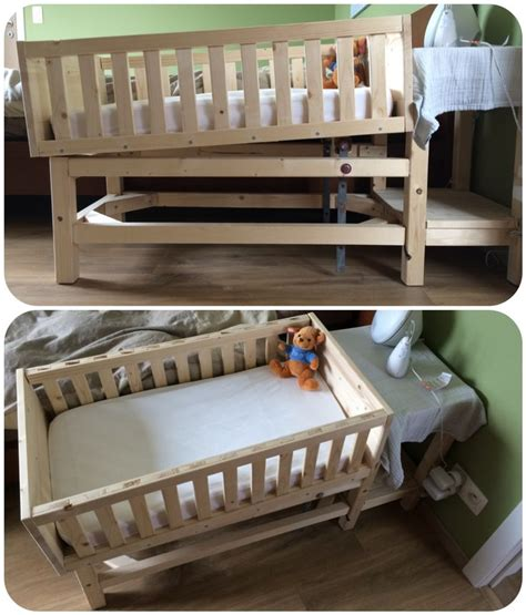 baby co sleeper crib made with for finn diy verstelbaar baby bedje