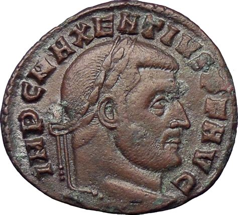 Maxentius 307ad Rare Huge Ancient Roman Coin Hexastyle